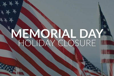 Memorial Day Closure 2020