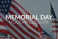 Memorial Day 2020 Holiday Notice